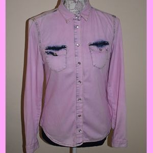 TopShop Pink Button up